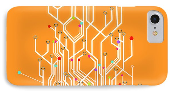 Circuit Board Graphic IPhone Case by Setsiri Silapasuwanchai
