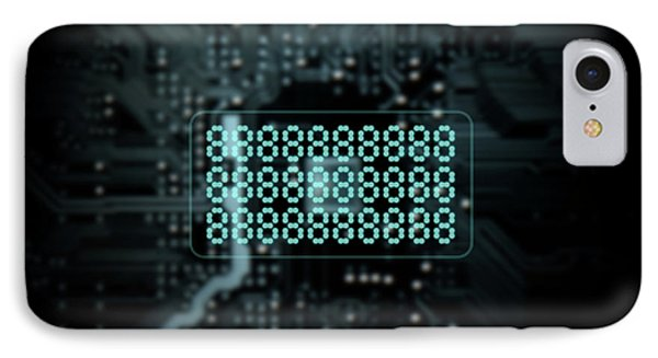 Circuit Board Projecting Text IPhone Case