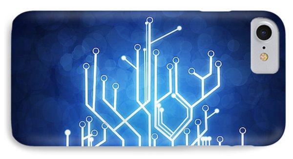Circuit Board Technology IPhone Case by Setsiri Silapasuwanchai