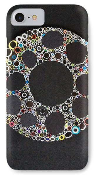Circular Convergence Of Mutated Molecules IPhone Case by Douglas Fromm