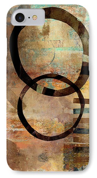 Circular Lines IPhone Case by Carol Leigh