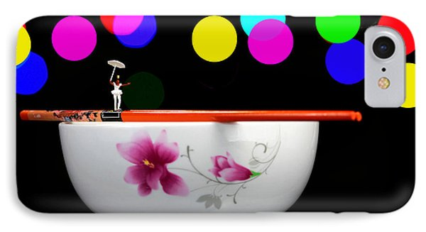 Circus Balance Game On Chopsticks IPhone Case by Paul Ge