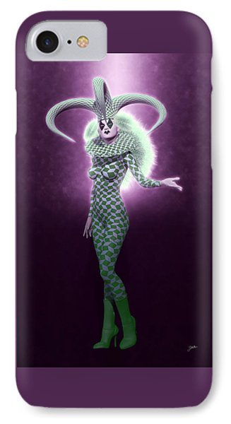 Circus Of Horrors - Green Jester Woman IPhone Case