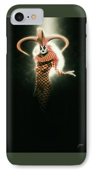 Circus Of Horrors - Mysterious Jester Woman IPhone Case