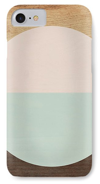 Cirkel In Peach And Mint- Art By Linda Woods IPhone Case by Linda Woods