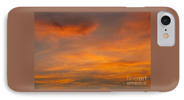 Cirrus Clouds At Sunset IPhone Case by Jim Corwin