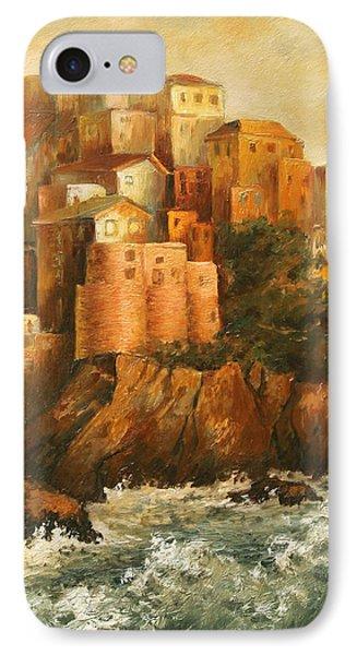 Cinque Terre Lerici Italia Painting IPhone Case