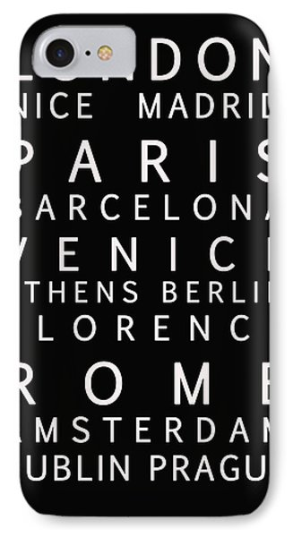 Cities Of Europe Phone Case by Georgia Fowler