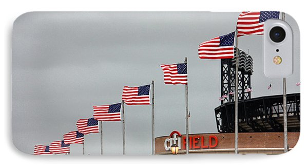 Citifield And American Flags IPhone Case