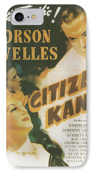 Citizen Kane - Orson Welles Phone Case by Georgia Fowler