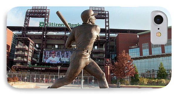 Citizens Bank - Mike Schmidt - Phillies IPhone Case by Bill Cannon