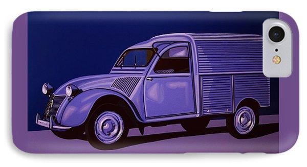 Citroen 2cv Azu 1957 Painting IPhone Case by Paul Meijering