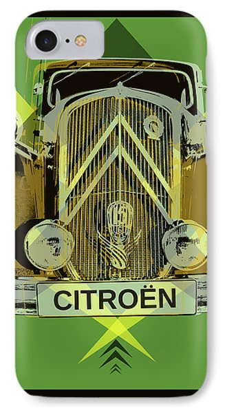 IPhone Case featuring the digital art Citroen Traction Avant  by Jean luc Comperat