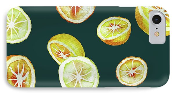 Citrus IPhone 7 Case by Varpu Kronholm