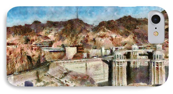 City - Nevada - Hoover Dam Phone Case by Mike Savad
