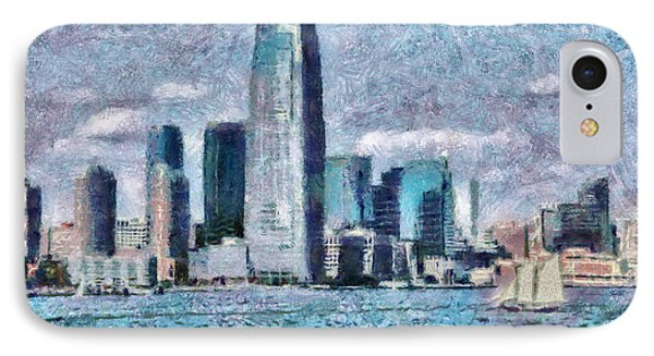 City - Ny - City Of The Future Phone Case by Mike Savad