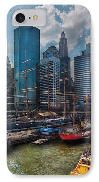 City - Ny - The New City Phone Case by Mike Savad