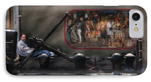 City - Ny South Street Seaport - Ship Carvers Phone Case by Mike Savad