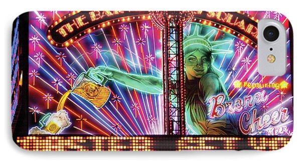 City - Vegas - Ny - The Bar At Times Square Phone Case by Mike Savad