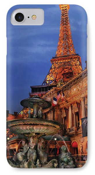 City - Vegas - Paris - Academie Nationale - Panorama Phone Case by Mike Savad
