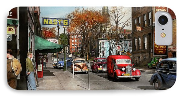City - Amsterdam Ny - Downtown Amsterdam 1941 IPhone Case by Mike Savad