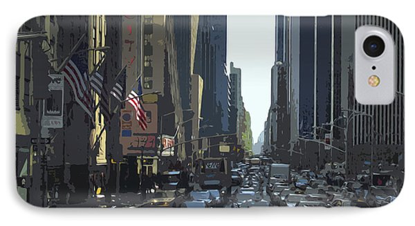 City-art 6th Avenue Ny  Phone Case by Melanie Viola