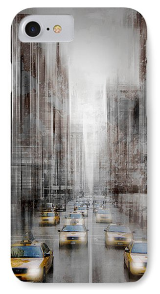 City-art Nyc 5th Avenue Traffic IPhone Case by Melanie Viola
