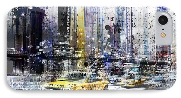 City-art Nyc Collage Phone Case by Melanie Viola