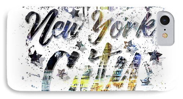 City Art Nyc Collage - Typography IPhone Case by Melanie Viola