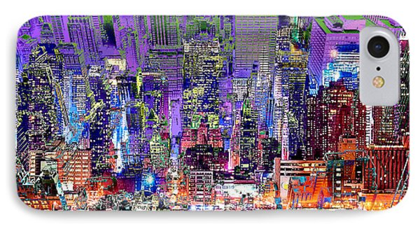 City Art Syncopation Cityscape Phone Case by Mary Clanahan
