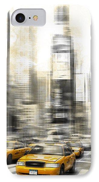 City-art Times Square IPhone Case by Melanie Viola