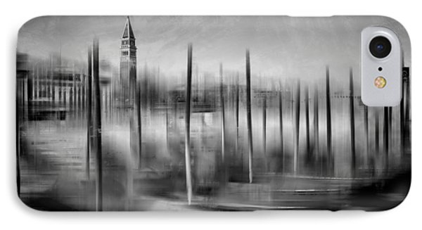 City-art Venice Grand Canal And St Mark's Campanile Monochrome IPhone Case by Melanie Viola
