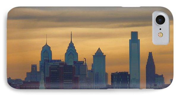 City At Dusk Phone Case by Thomas  MacPherson Jr