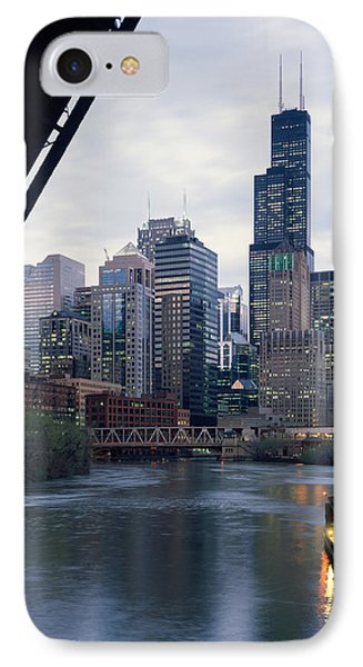 City At The Waterfront, Chicago River IPhone Case by Panoramic Images