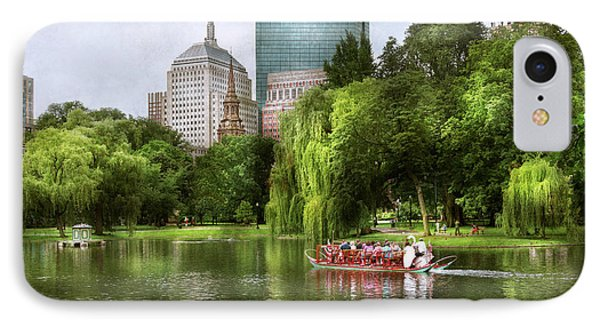 City - Boston Ma - Boston Public Garden IPhone Case by Mike Savad
