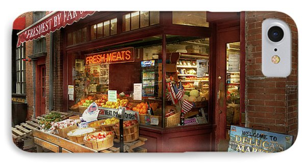 City - Boston Ma - Fresh Meats And Fruit IPhone Case by Mike Savad