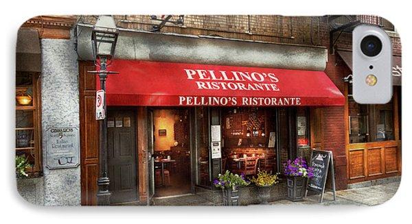 City - Boston, Ma - Pellino's Ristorante IPhone Case by Mike Savad