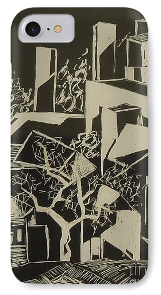 City By Moonlight - Sold IPhone Case by Judith Espinoza