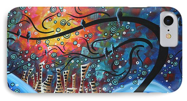 City By The Sea By Madart IPhone Case by Megan Duncanson
