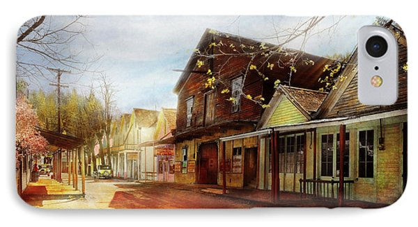 City - California - The Town Of Downieville 1933 IPhone Case by Mike Savad