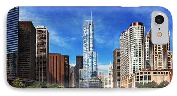 City - Chicago Il - Trump Tower IPhone Case