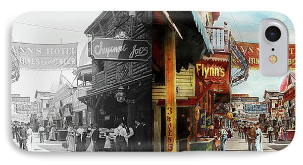 IPhone Case featuring the photograph City - Coney Island Ny - Bowery Beer 1903 - Side By Side by Mike Savad