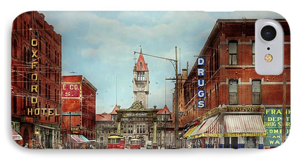 City - Denver Colorado - Welcome To Denver 1908 IPhone Case by Mike Savad