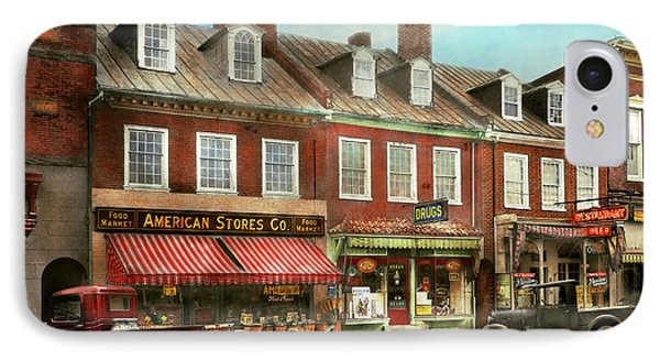 City - Easton Md - A Slice Of American Life 1936 IPhone Case by Mike Savad