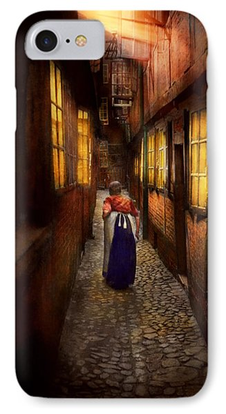 City - Germany - Alley - A Long Hard Life 1904 IPhone Case by Mike Savad