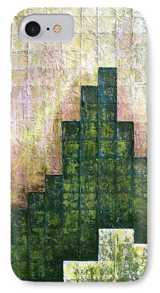 City In Green IPhone Case by Shadia Derbyshire