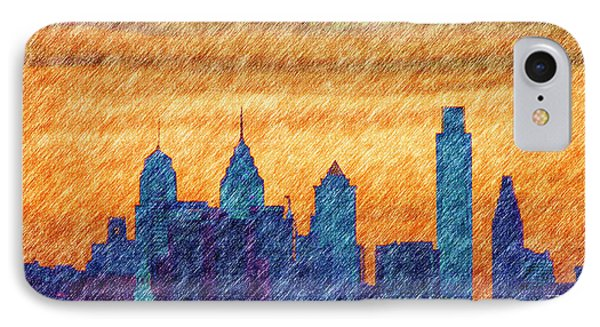 City In Pencil Phone Case by Thomas  MacPherson Jr
