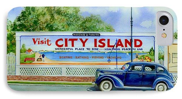 City Island Billboard Phone Case by Marguerite Chadwick-Juner