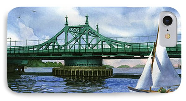 City Island Bridge Summer Phone Case by Marguerite Chadwick-Juner
