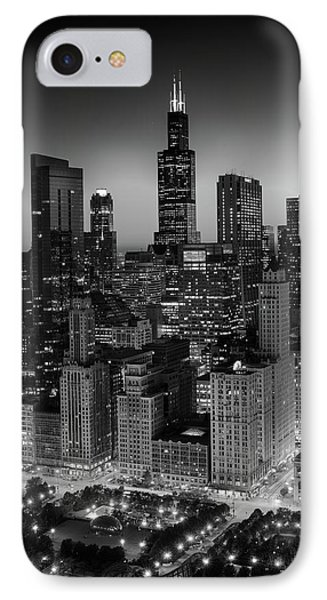 City Light Chicago B W IPhone Case by Steve Gadomski